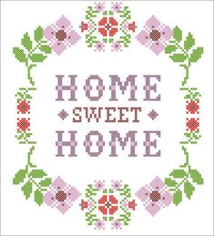 #05 BOGO FREE! PDF - flower Home Sweet Home - cross stitch PDF Pattern - pdf pattern instant download For your consideration is a beautiful counted cross stitch pattern/chart as shown in the picture. Pattern Details: This pattern is in PDF format and consists of a floss list, and a color symbol chart. A small sample of the color symbol chart is shown in the last photo. General instructions on how to make the item as shown are also provided. This listing is for a full-colour PDF pattern…