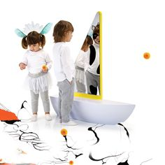 sail boat mirror and seat for kid's rooms