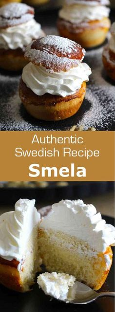Semla is a traditional Swedish pastry eaten at Mardi Gras. It is a soft milk brioche filled with whipped cream and almond paste.