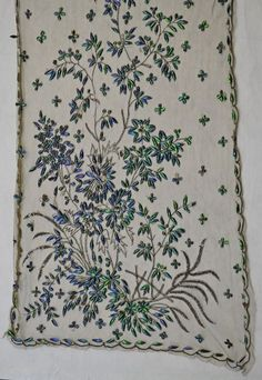 Shawl | V&A Search the Collections Hand Embroidery, Embroidery Designs, Indian Fabric, Old Clothes, Gold Work, Vintage Accessories, Victorian Fashion, Beetle, Vintage Outfits