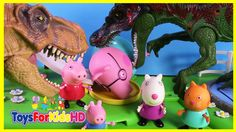 Peppa Pig y los Dinosaurios para niños Atacan la Ciudad - Videos de Peppa Pig -videos de dinosaurios