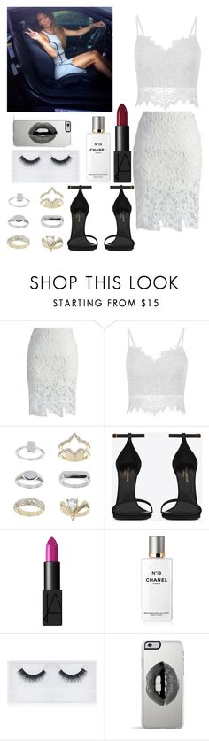 """""""Girl Day with Dani"""" by kennedey-lynn-freeman ❤ liked on Polyvore featuring Chicwish, Topshop, Yves Saint Laurent, NARS Cosmetics, Chanel, Georgie Beauty and Lipsy"""