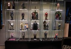 Raising Detolf with Besta - IKEA Hack Toy Display, Display Cases, Display Shelves, Toy Shelves, Comic Book Rooms, Comic Room, Action Figure Display Case, Den Ideas, Room Ideas