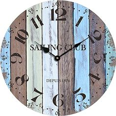 Beach Wall Clocks Reclaimed Wood Clock 16 pallet wood clock