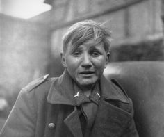 A fifteen year old German soldier, Hans-Georg Henke, captured by the US 9th Army in Germany. April 3, 1945