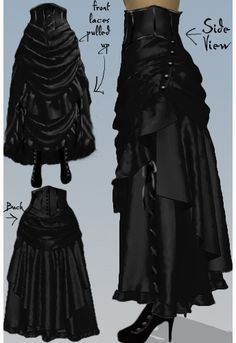 Victorian Steampunk Bustle Skirt - Amber Middaugh 2015