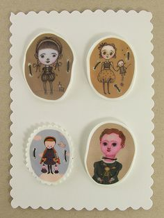 Amazing shrink plastic pins, these are adorable