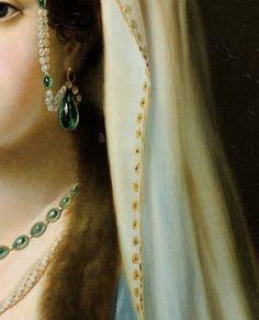 """""""Jeune Femme en Habit Traditionnel Ottoman"""" (detail) by Charles François Jalabert (1819-1901)."""