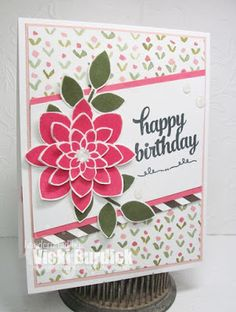 It's a Stamp Thing: Sweet Sunday . SU Crazy About You Happy Birthday Cards, Birthday Greetings, Birthday Wishes, Sweet Sundays, Punch, Hand Made Greeting Cards, Stampin Up Catalog, Flower Patch, Stamping Up Cards