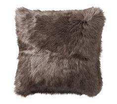 $34.99 Faux Fur Pillow Cover - Gray Ombre
