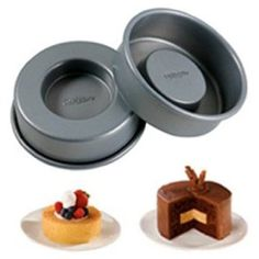 Wilton Tasty Fill Set of 4 Mini Cake Pan Set- these could be useful