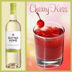 Our new favorite wine cocktail: The Cherry Kiss