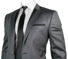Mens Slim Fit Grey 1 Button Suit Shiny Black Trim Big Lapels FZ, http://www.amazon.co.uk/dp/B008BREECO/ref=cm_sw_r_pi_dp_0ezQrb08R6XAN/277-0125035-2507855