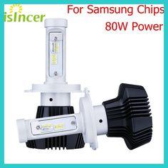 iSincer 12V LED Car Headlights H4 H7 Car Head Lamp Lights 80W 8000LM Head Bulbs H1 H13 H11 LED Fog Light 6000K Car Styling Lamp