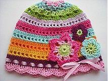 Čiapky - Pestrofarebná čiapočka (farby Indie) - 1063121