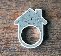 Concrete House Ring by Linda Bennett