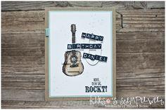 Eclipse-Card zum 40. Geburtstag #countrylivin #stampinup #Gitarre #Music #happybirthday #eclipsecard