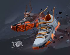 Sneaker design progect for Russian brand AFOUR