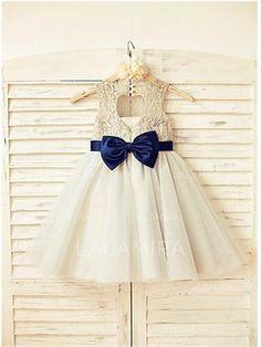 55e972e43336a Scoop Neck A-Line/Princess Flower Girl Dresses Sash/Bow(s) Sleeveless  Tea-length (010211930) · Küçük KızlarÇiçekçilerSaç FiyonklarıÇocuk ...