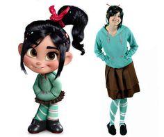 Vanellope von Schweetz from Wreck it Ralph | 31 Disney Costume Tutorials You Have To Try This Halloween