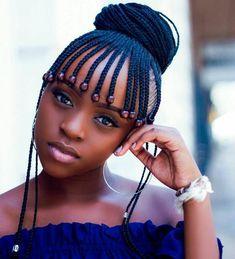black womens hairstyles for medium length Braided Hairstyles For Black Women, African Braids Hairstyles, Girl Hairstyles, Hairstyles 2018, Black Hairstyles, Black Girl Braids, Braids For Black Hair, Braids For Kids, Girls Braids