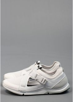 I could definitely get with these Adidas SLVR Leather Buckle Trainers in White