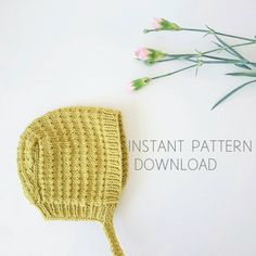 Baby bonnet knitting pattern Astrid  pdf download  by Dreamiknit