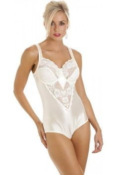7375ff323bae9 Camille Womens Ladies Ivory Underwired Non Padded Floral Lace Shapewear  Body  Offering a firm control