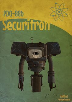 Fallout PDQ-88b Securitron The bots in Fallout are memorable. #fallout #gaming