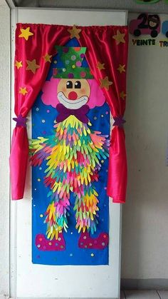 Clown, crafts - Crafts for Teens Kids Crafts, Clown Crafts, Circus Crafts, Carnival Crafts, Preschool Crafts, Diy And Crafts, Paper Crafts, Decoration Creche, Class Decoration