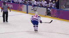 He was injured on the ice and was attempting to get off when the ref ran into him, double injuring him
