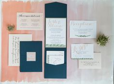 Watercolor  invitations   Blush weddings   Whimsical weddings   Lancaster, PA Weddings   Ironstone Ranch   Queen Bee Paperie