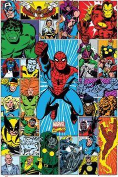 Marvel - Character Grid Pósters en AllPosters.es