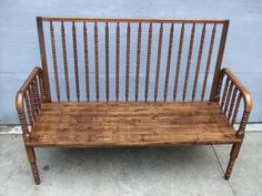 upcycle/ repurpose jenny lynn crib | Baby Crib bench - Jenny Lind - needs fluffy pillows