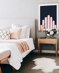 smart first apartment decorating ideas on a budget 14 > Home Design Ideas > … - Modern Cozy Bedroom, Bedroom Apartment, Modern Bedroom, Apartment Living, Bedroom Wall, Bedroom Furniture, Home Furniture, Bedroom Ideas, Modern Wall