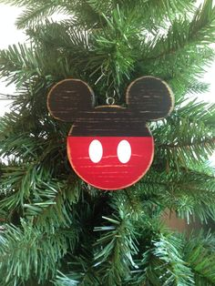 Mickey Mouse Disney Wood Christmas Ornament Mickey Mouse with Shorts Icon Mickey Wood Distressed Hand Painted Disney Fish Extender