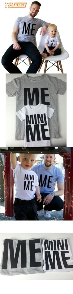 New ME and MINI ME Pattern Family Matching Outfits Children Clothing Dad Son Clothes Family T Shirts Fashion Apparel Family Look