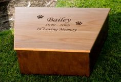 These wooden dog caskets are very beautiful environmentally biodegradable earth friendly way to go. http://peturnsforsmalldogs.com/caskets-for-pets