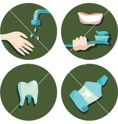 Teeth icons vector on VectorStock®