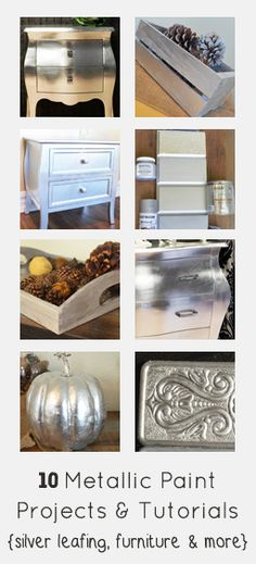 Here is a round up of some of my most popular metallic paint projects and tutorials! Painting furniture and crafts with metallic paint is a whole skill in and of itself. Its good to experiment with silver leafing or liquid silver leaf in order to get an idea of what …