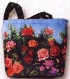 Large Tote Travel Bag-- Rose Garden Floral