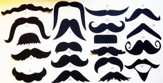 Mustache - Moustache - Cut Outs - Die Cuts - Photo Props - Party Decorations - Garlands - Party Straws - Photo Booths