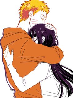 So much love in one fan art.  NaruHina #naruto