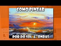 Como Pintar  Por do Sol  &  Ondas  (Passo a Passo) - YouTube