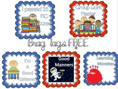 Free brag tags really cute 4th Grade Classroom, Classroom Behavior, Preschool Classroom, Classroom Management, Behavior Management, Classroom Organization, Class Management, First Day Activities, Counseling Activities