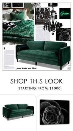 """""""Green Is The New BLACK !"""" by dragananovcic ❤ liked on Polyvore featuring interior, interiors, interior design, home, home decor and interior decorating"""