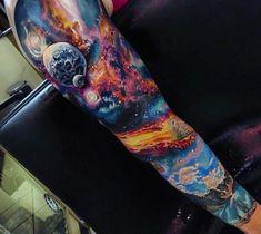 Male Cosmic Tattoo Full Sleeve tatuajes | Spanish tatuajes |tatuajes para…