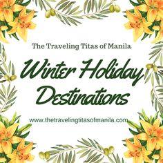 Traveling Titas Of Manila ( Winter Holiday Destinations, Travel Clothes Women, Travel Checklist, Travel Scrapbook, Manila, Winter Holidays, Travel Pictures, Travel Photos, Trip Planning