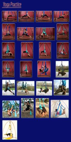 Images of Yoga Postures and Stretches on Omni-Swing
