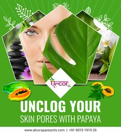 Mash fresh papaya & apply on your skin for 3 minutes. It contains enzymes that slough pore-clogging dead cells, leaving skin soft & radiant. Try it, its effective! #AlcorSpa #SkinCareTip